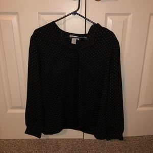 Large Liz Claiborne polka dot shirt